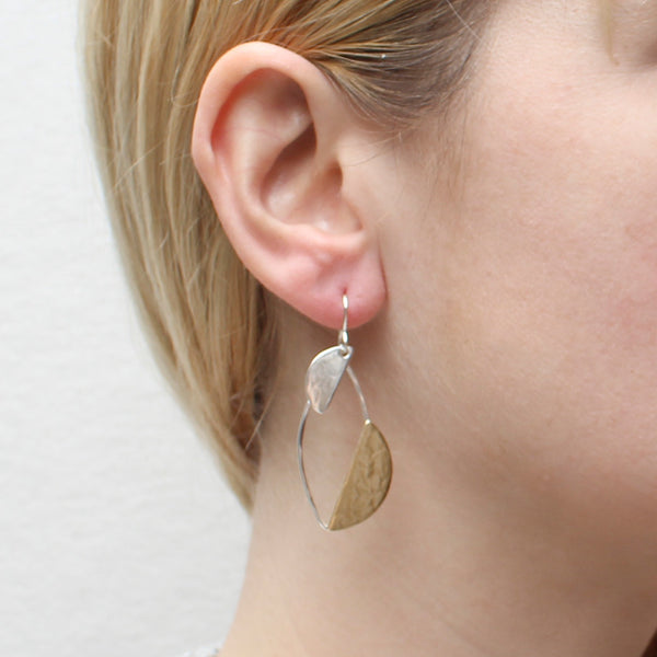 Semi-Circles and Ring Earring