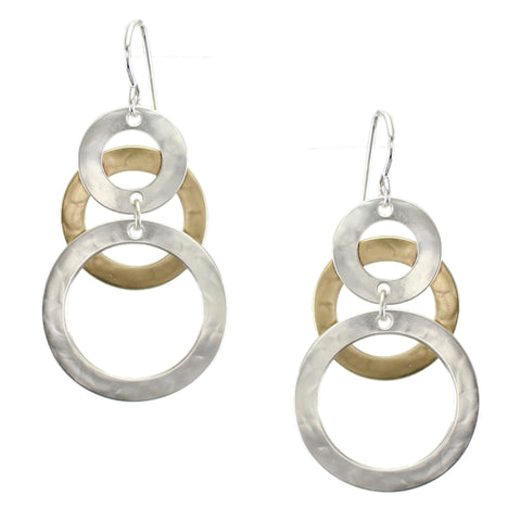 Layered and Linked Wide Rings Earring