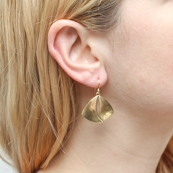 Overlapping Fins Earring