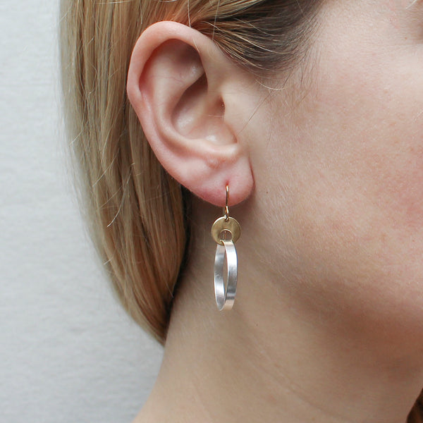 Cutout Disc with Rim Wire Earring