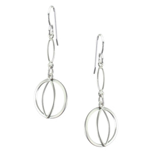 Layered Pointed Oval Rings Earring