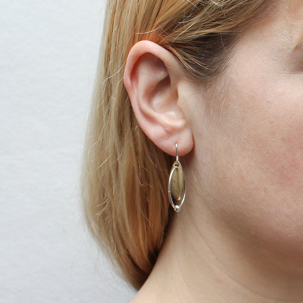 Leaf with Ring and Bead Earring
