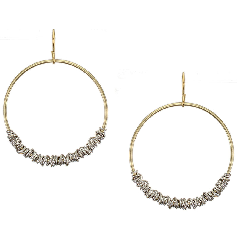 Heavy Wire Wrapped Hoop Wire Earring