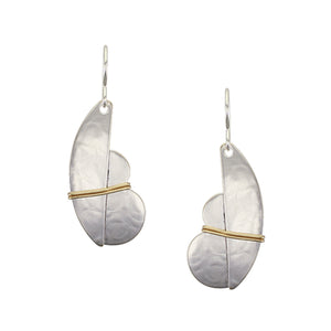 Wire Wrapped Crescent and Cloud Wire Earring