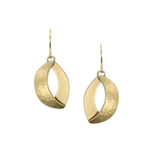 Small Dished Swoop with Domed Crescent Wire Earring