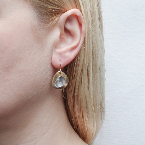 Organic Disc with Paisley Earring