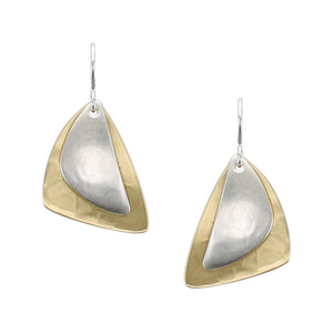 Layered Rounded Triangles Wire Earring
