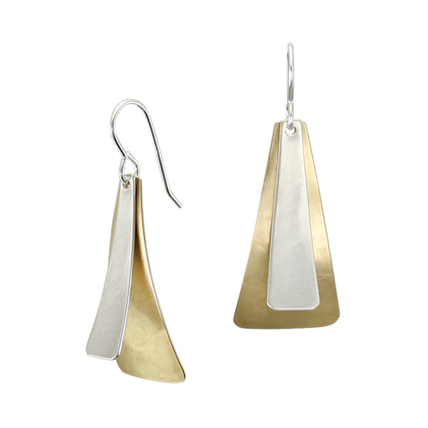 Layered Tapered Rectangles Wire Earring