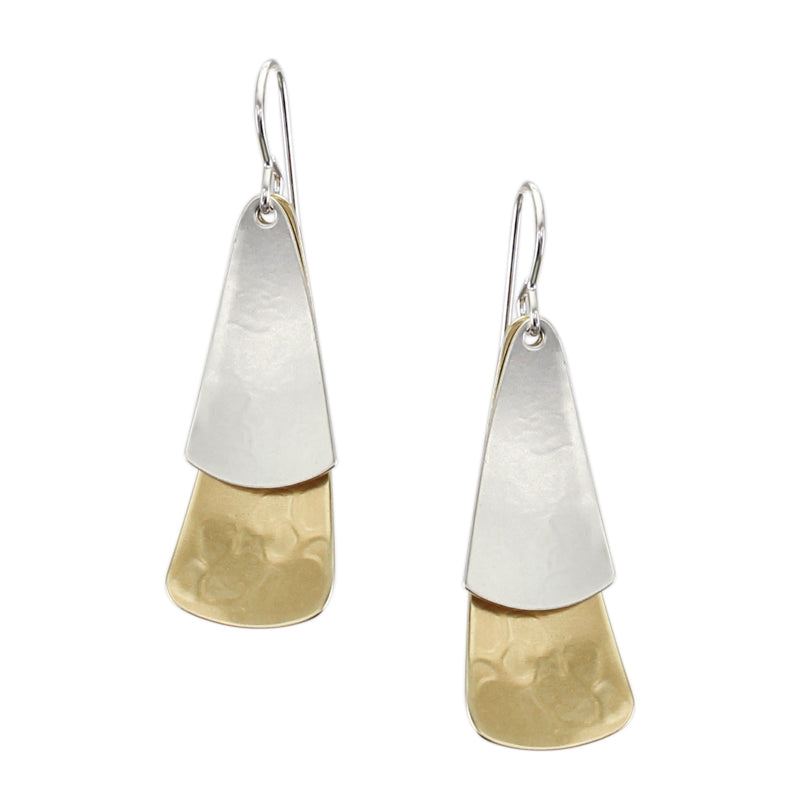 Two Dished and Rounded Triangle Wire Earring