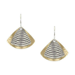 Textured Fans Wire Earring