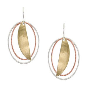 Graduated Wire Ovals with Fin Wire Earring