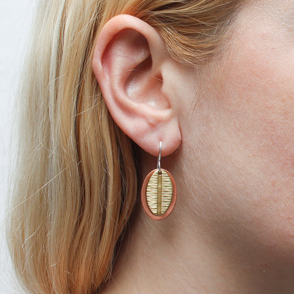 Layered Ovals Wire Earring