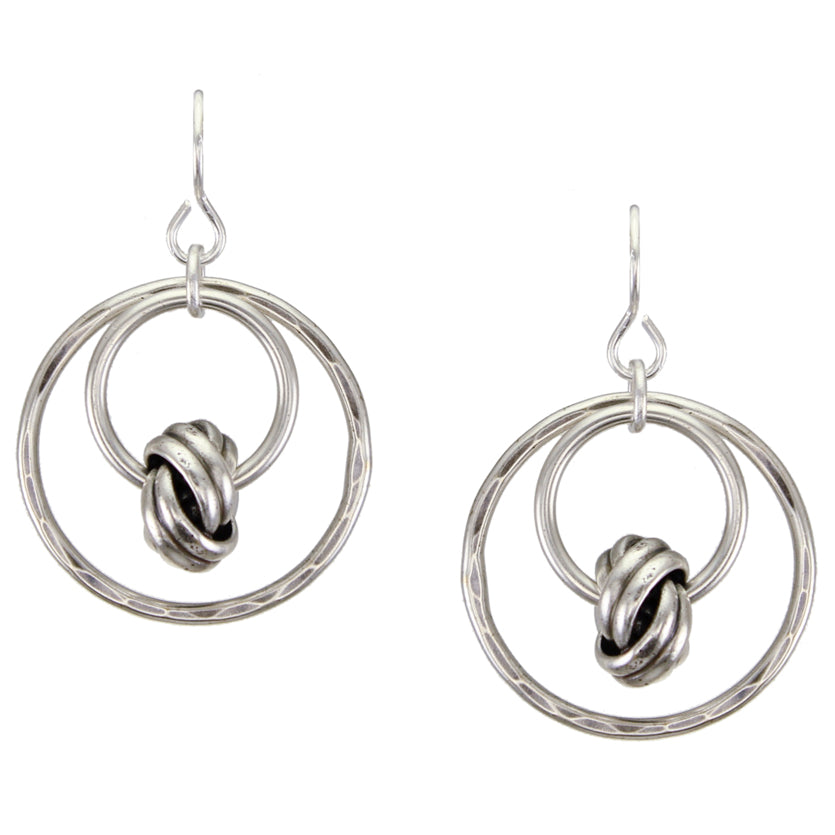 Medium Rings with Suspended Knot Wire Earring