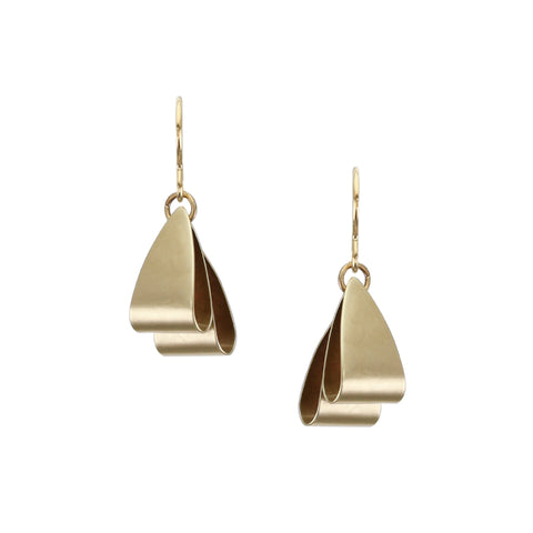 Folded Triangles Wire Earring