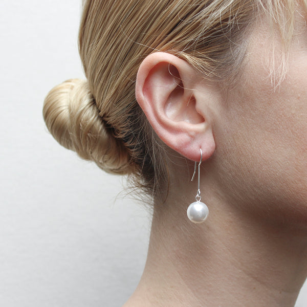 Extended Pearl Drop Wire Earring