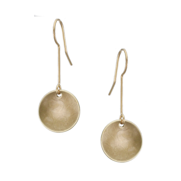 Extended Dished Disc Wire Earring