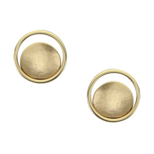 Disc and Ring Post Earring
