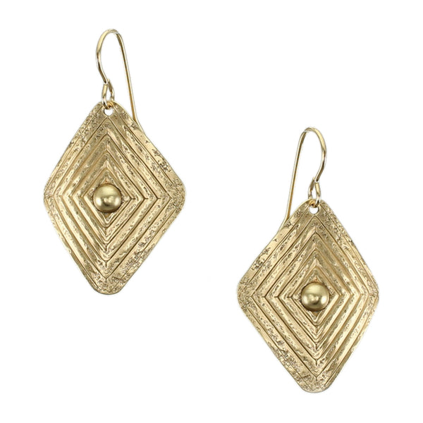 Patterned Rounded Diamond Wire Earring