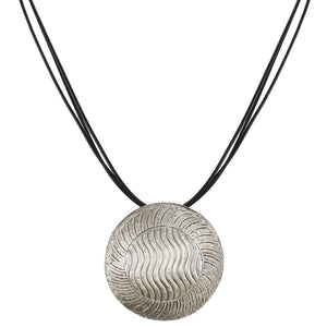 Domed Patterned Medallion Necklace