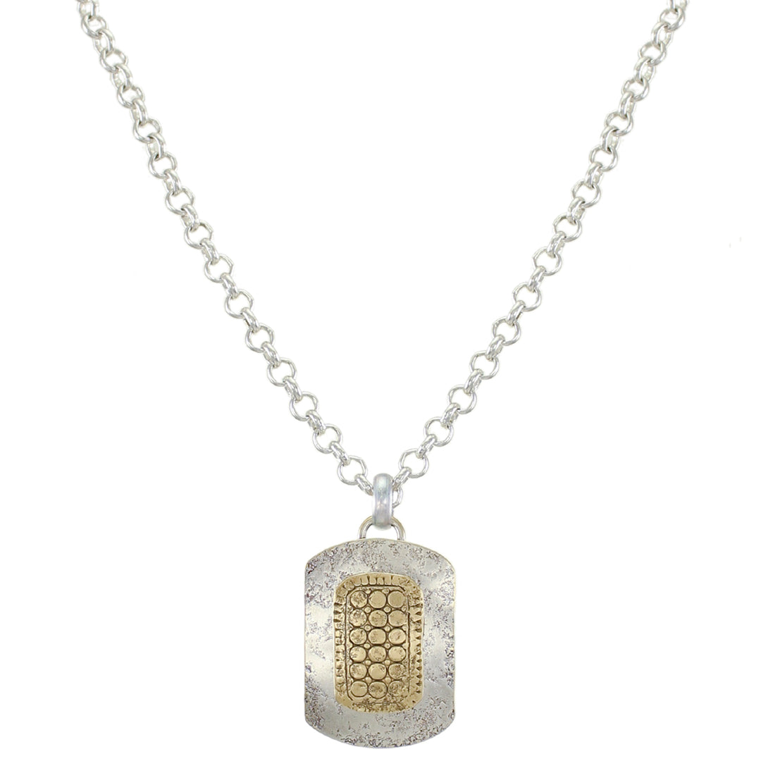 Patterned Rounded Rectangle Necklace