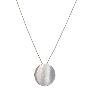 Large Back To Back Concave Discs Long Necklace