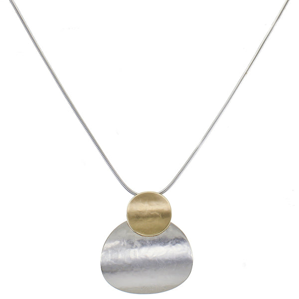 Layered Curved Discs Necklace