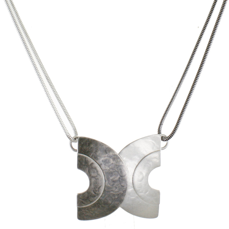 Double Layered Crescents Necklace