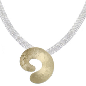 Swirl on Mesh Chain Necklace