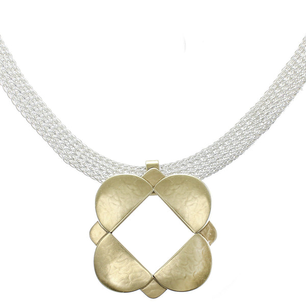 Window Necklace on Mesh Chain