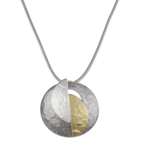 Cutout Disc and Semi Circles Necklace