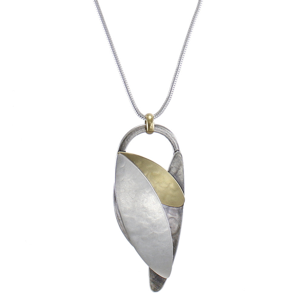 Long Overlapping Leaves Necklace