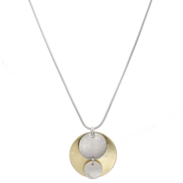 Mother of Pearl with Concave and Convex Discs Necklace