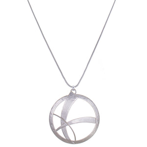 Large Woven Disc Necklace