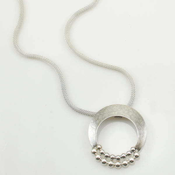 Crescent with Bead Arcs Necklace