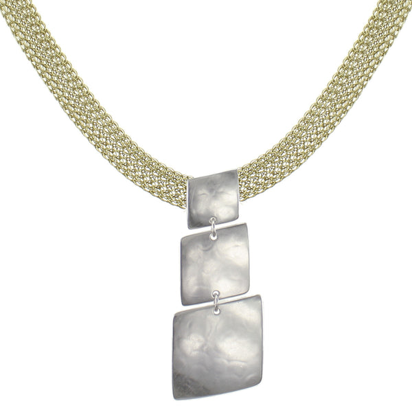 Slanted Squares Necklace