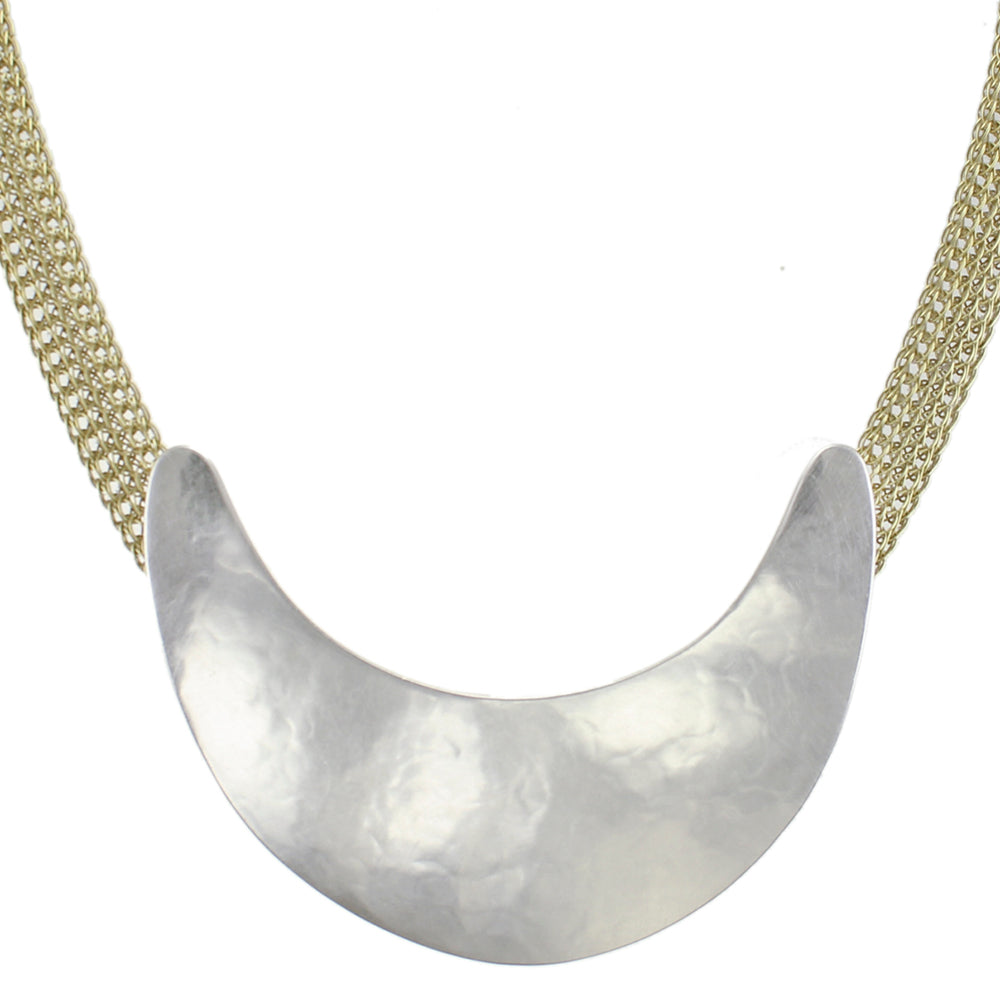 Fin on Wide Mesh Chain Necklace