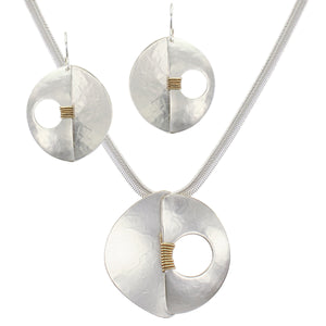 Modern Sculptural Matching Set - Wire Earrings and Necklace