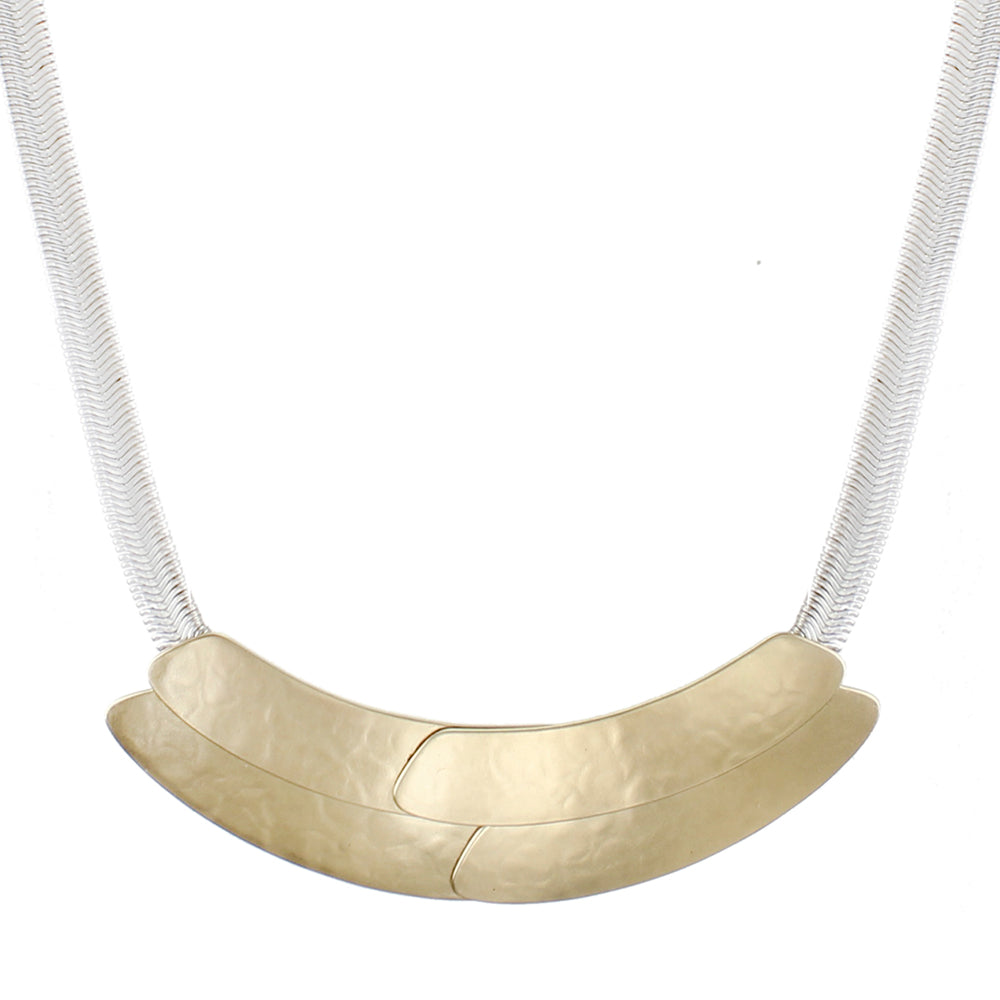 Overlapping and Layered Curves Necklace