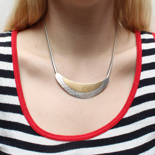 Layered Crescents Necklace