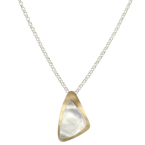 Layered Triangles Long Necklace