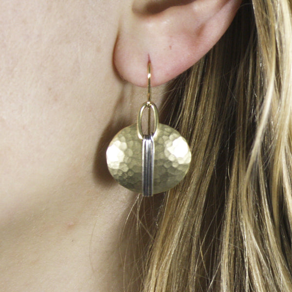 Wire-Wrapped Oval Earring