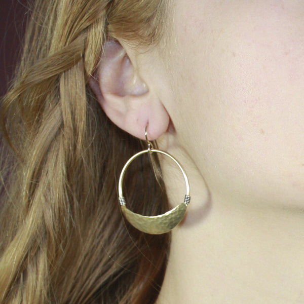 Wire-Wrapped Hoop Earring