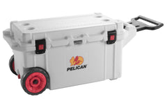 Pelican 80QT White Elite Wheeled Cooler
