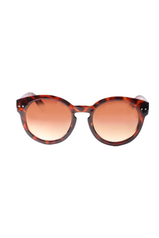 Rounded Wayfarer Sunglasses in Tortoise