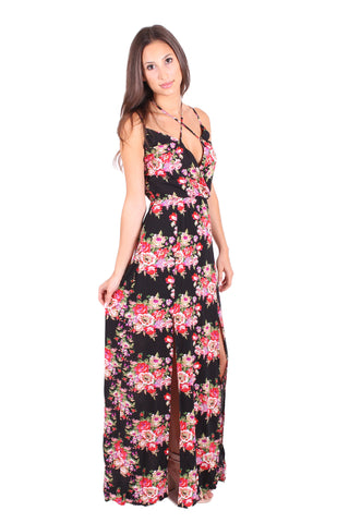 Take A Hint Floral Maxi Dress by Reverse