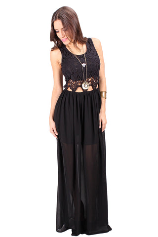 Lilian Crochet Maxi Dress