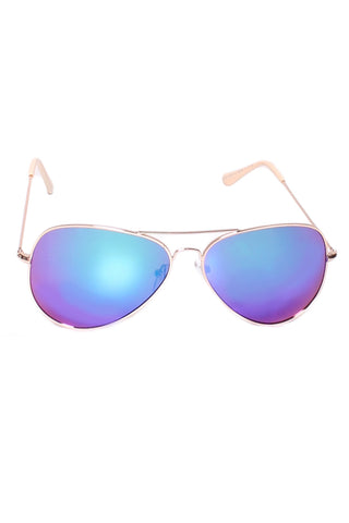 Aviator Reflector Sunglasses In Blue/Purple