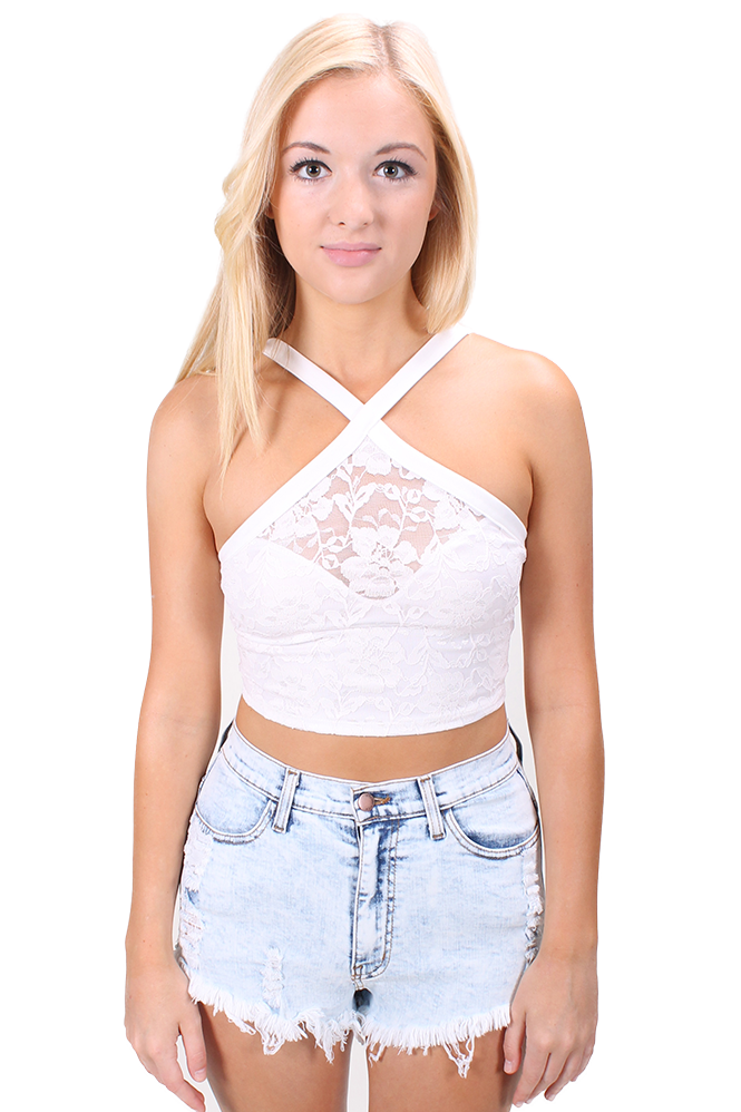 Criss Cross Top in Ivory