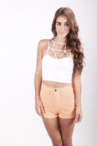 Sorbet High-Waisted Shorts