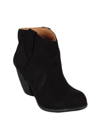 Bamboo Priority 53 Black Ankle Boot